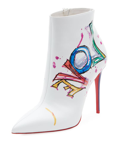 Boot In Love Printed Red Sole Bootie