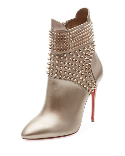 Hongroise Spiked Red Sole Bootie