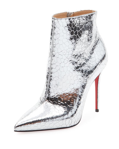 So Kate Metallic Leather Red Sole Bootie