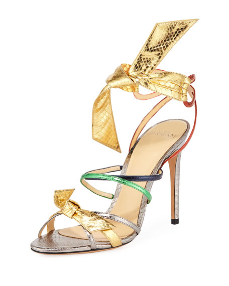 VIENNA COLORBLOCK METALLIC SANDALS