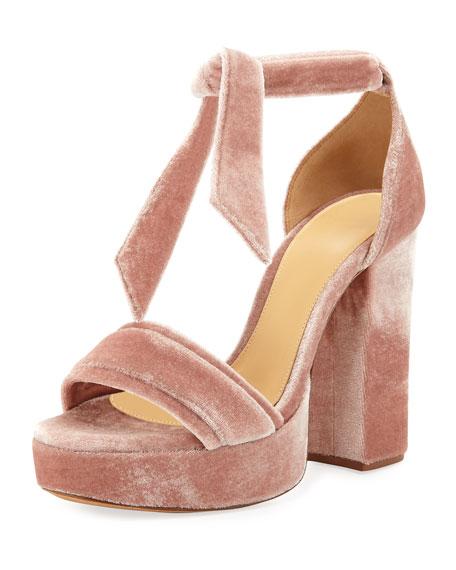 Alexandre Birman Celine Velvet Platform Sandal