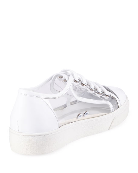 PVC Lace-Up Platform Sneakers