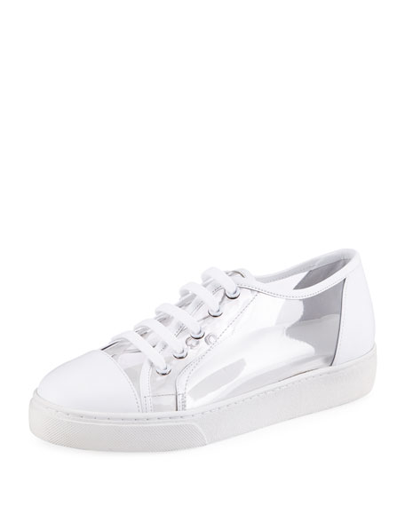 PVC Lace-Up Platform Sneaker