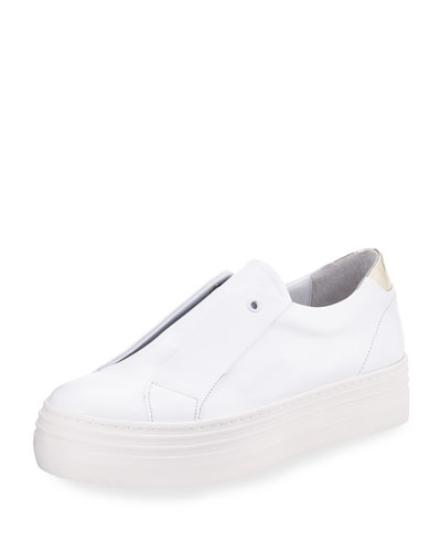 Platform Leather Slip-On Sneaker