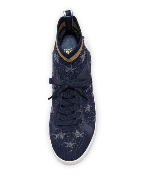 Ninja Star-Sock Lace-Up Sneakers