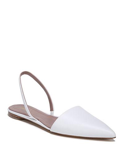 Koko Slingback Ballerina Flat, White