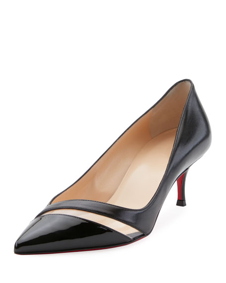 Christian Louboutin 17th Floor Red Sole Pumps, Black