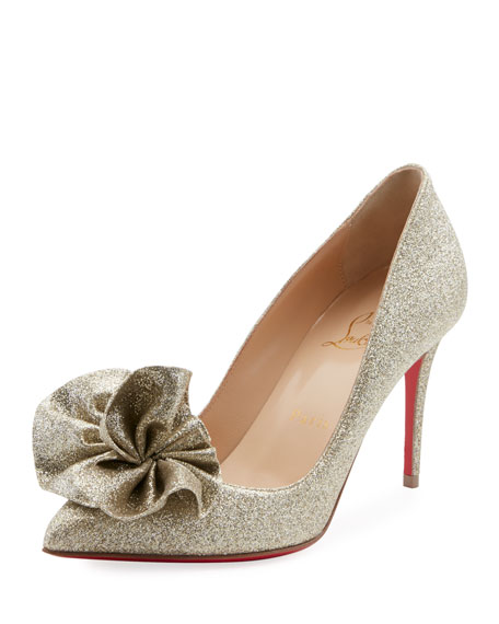 Christian Louboutin Anemosea Glitter Red Sole Pumps