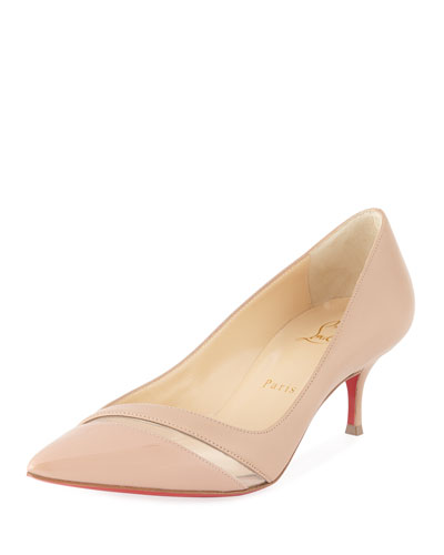 17th Floor Red Sole Pumps, Nude
