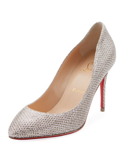 Eloise 85mm Glitter Red Sole Pumps