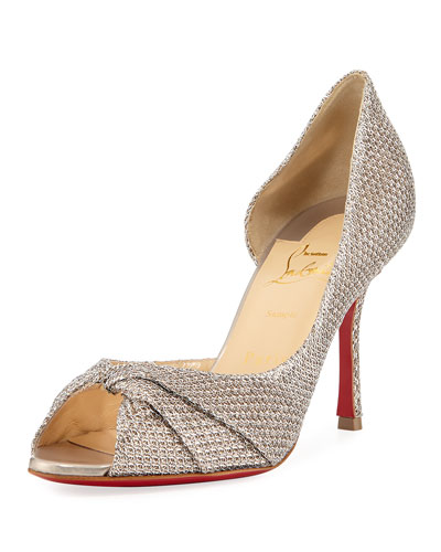 Courvampa Glitter Red Sole Pump