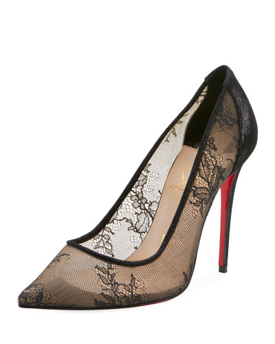 Lace 100mm Red Sole Pumps