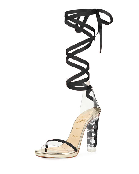 Tornade Blonde Red Sole Sandal