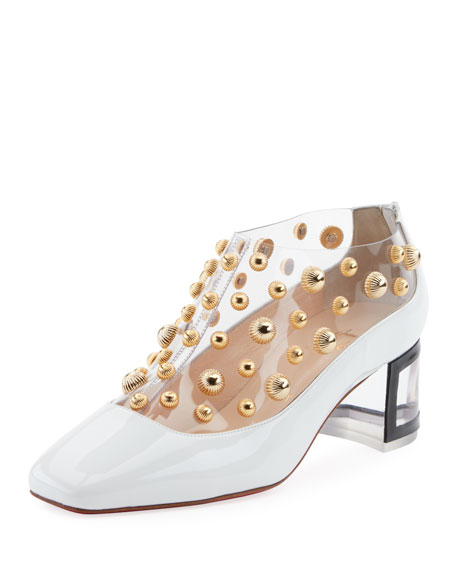 Christian Louboutin Space Odd Studded Red Sole Bootie