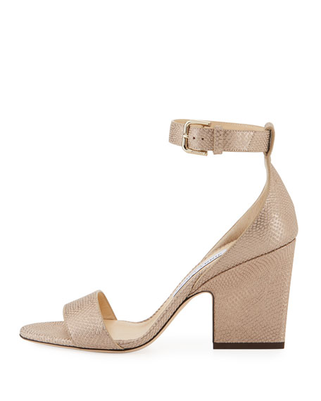 Edina Printed Metallic Sandal