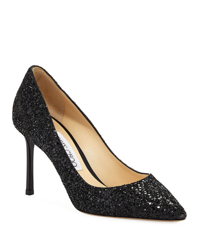 Romy 85mm Crushed Glitter Pump