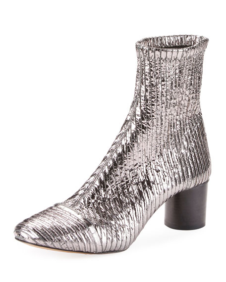 Isabel Marant Datsy Crackled Pleated Booties