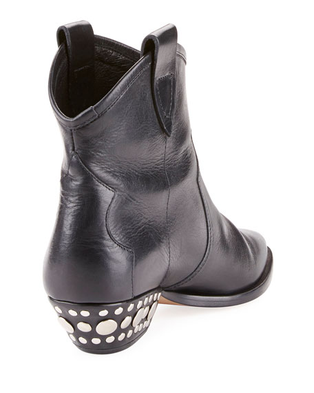 Dawyna Leather Cowboy Booties