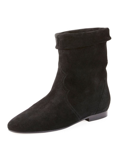 Ringal Suede Fold-Down Bootie