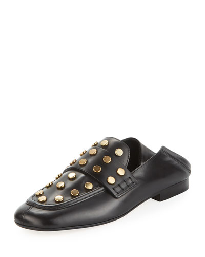 Feenie Studded Loafer Mule