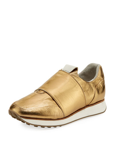 Dylan Metallic Elastic Runner Sneakers