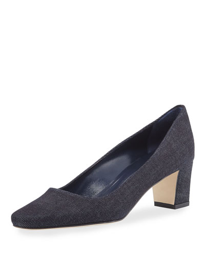 Okkato Denim Loafer Pump