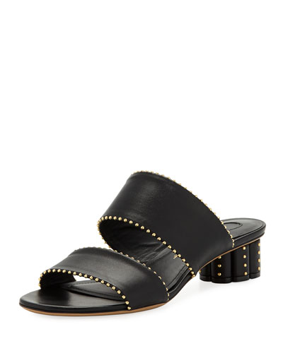 Studded Two-Band Mule Sandal