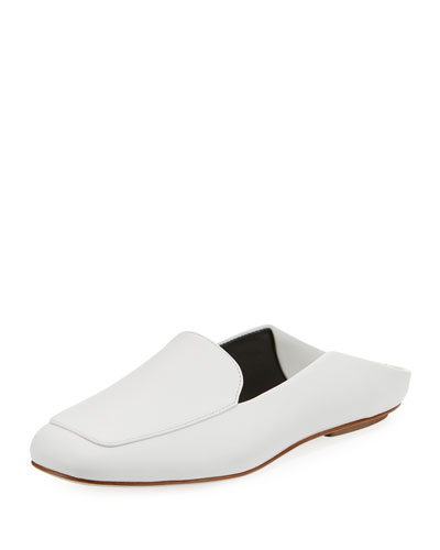 Calf Leather Loafer Mule