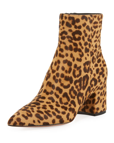 Leopard 60mm Pointed-Toe Booties