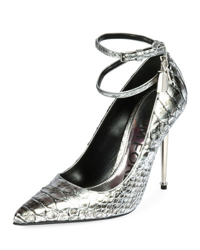 Two-Tone Laminated Python Pumps