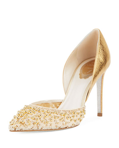 Metallic d'Orsay Strass Pumps