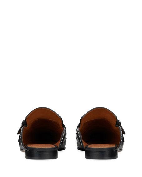 Elegant Studded Loafer Mule