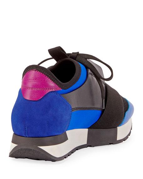 balenciaga color block race sneakers