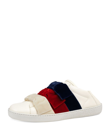 4da9d331b Gucci Low-Top Sneakers with Velvet Bows