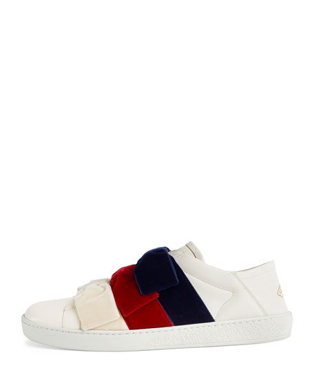 5a5f5733c Gucci Low-Top Sneakers with Velvet Bows