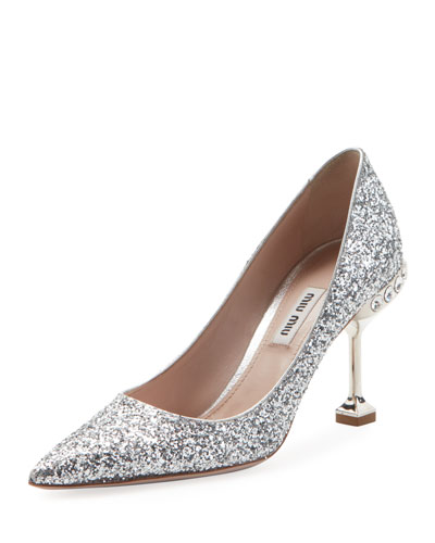 Jeweled Glitter High 85mm Pump