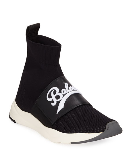 Balmain Cameron Pull-On Logo Sneakers
