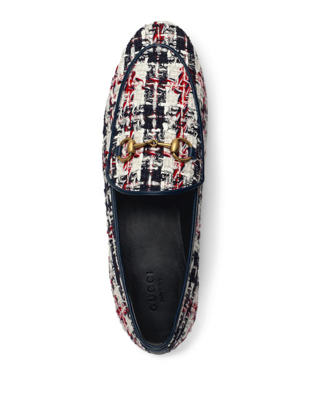 11e7243e340 Gucci New Jordaan Plaid Tweed Loafer