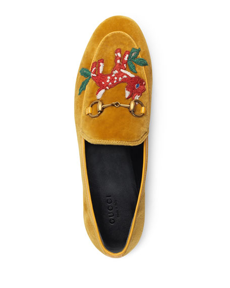 Flat Velvet Embroidered Loafers