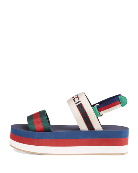 638c752ed799 Gucci Colorblock Platform Sandals