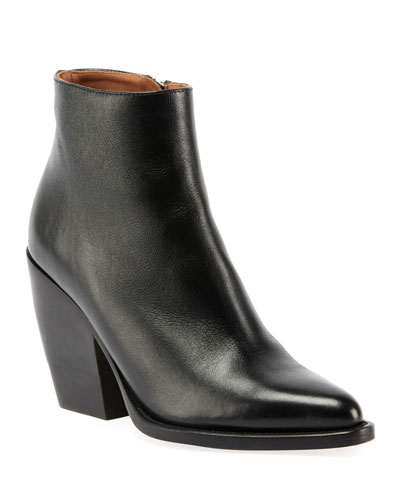 Western Leather Block Bootie