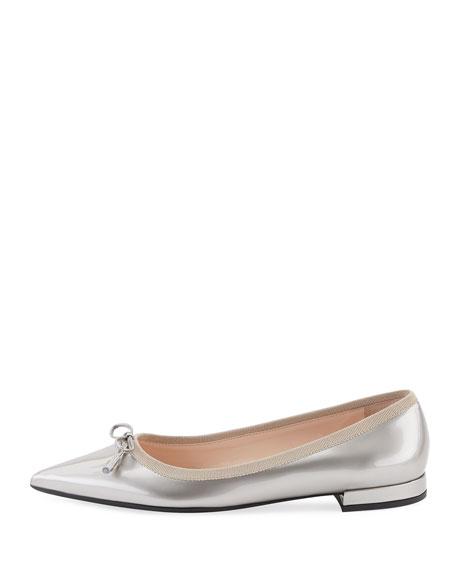 af6201cc7 Prada Metallic Pointed Ballet Flats