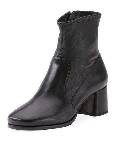 Napa Leather Zip Ankle Bootie