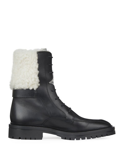 Aviator Leather Ankle Boot