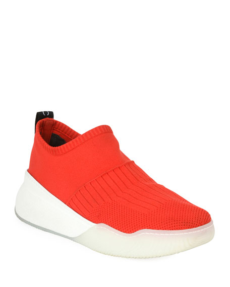 8d8abc49a66f Stella Mccartney Loop Sock Nylon Platform Sneakers In 6559 Red White ...