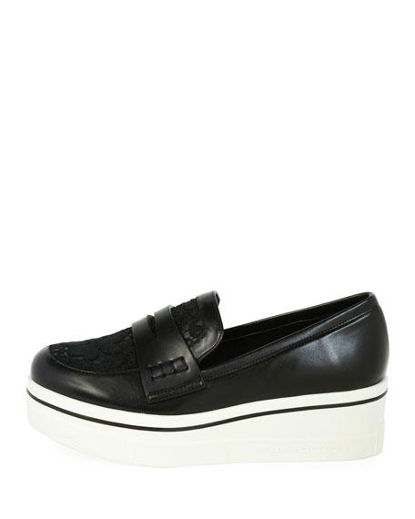 1e300206e84 Stella McCartney Binx Lace Sneaker-Style Penny Loafer