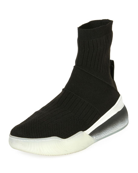 Stretch-Sock 45Mm Platform Sneakers, Black
