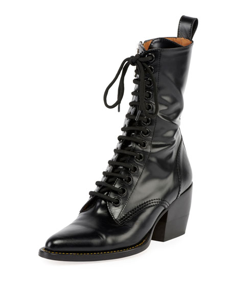 007784bb Rylee 90MM High Lace Up Buckle Boot