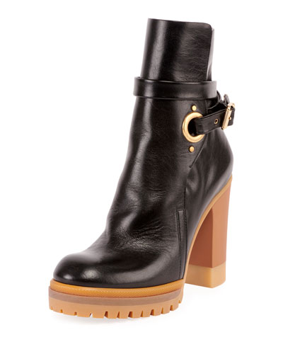 Suzie 90MM Lug Sole Buckle Bootie