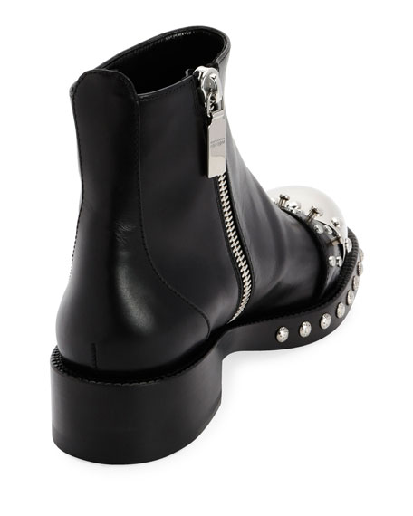 Leather Studded Ankle Boot